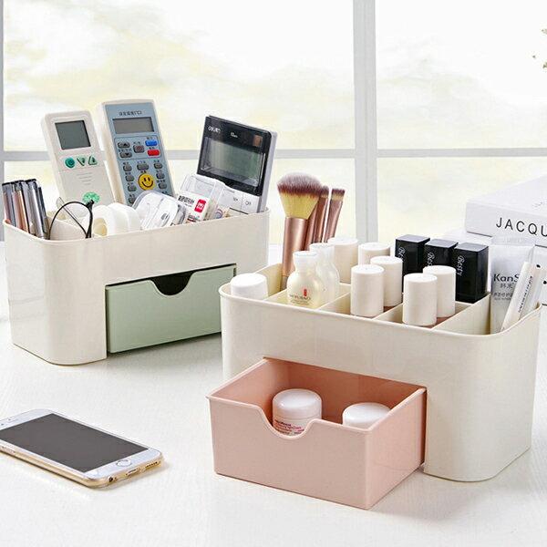 拼色桌面分格抽屜收納盒-單入可超取不挑色隨機出貨〔網購家〕