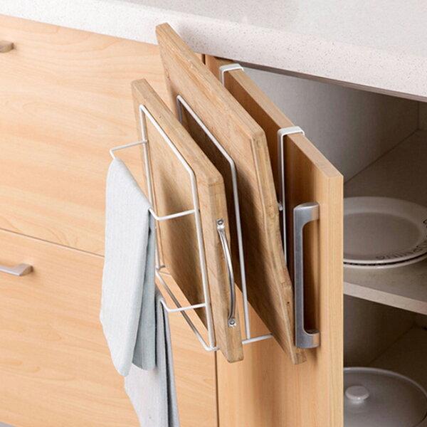 廚櫃砧板廚具收納掛架收納架毛巾架抹布架可超取不挑色隨機出貨〔網購家〕