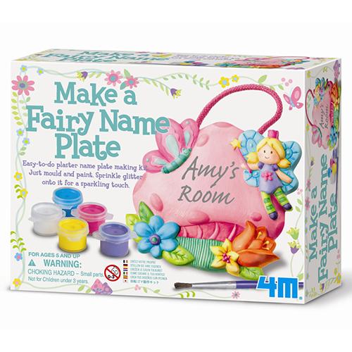 【 4M美勞創作 】花精靈名牌掛飾 Make A Fairy Name Plate