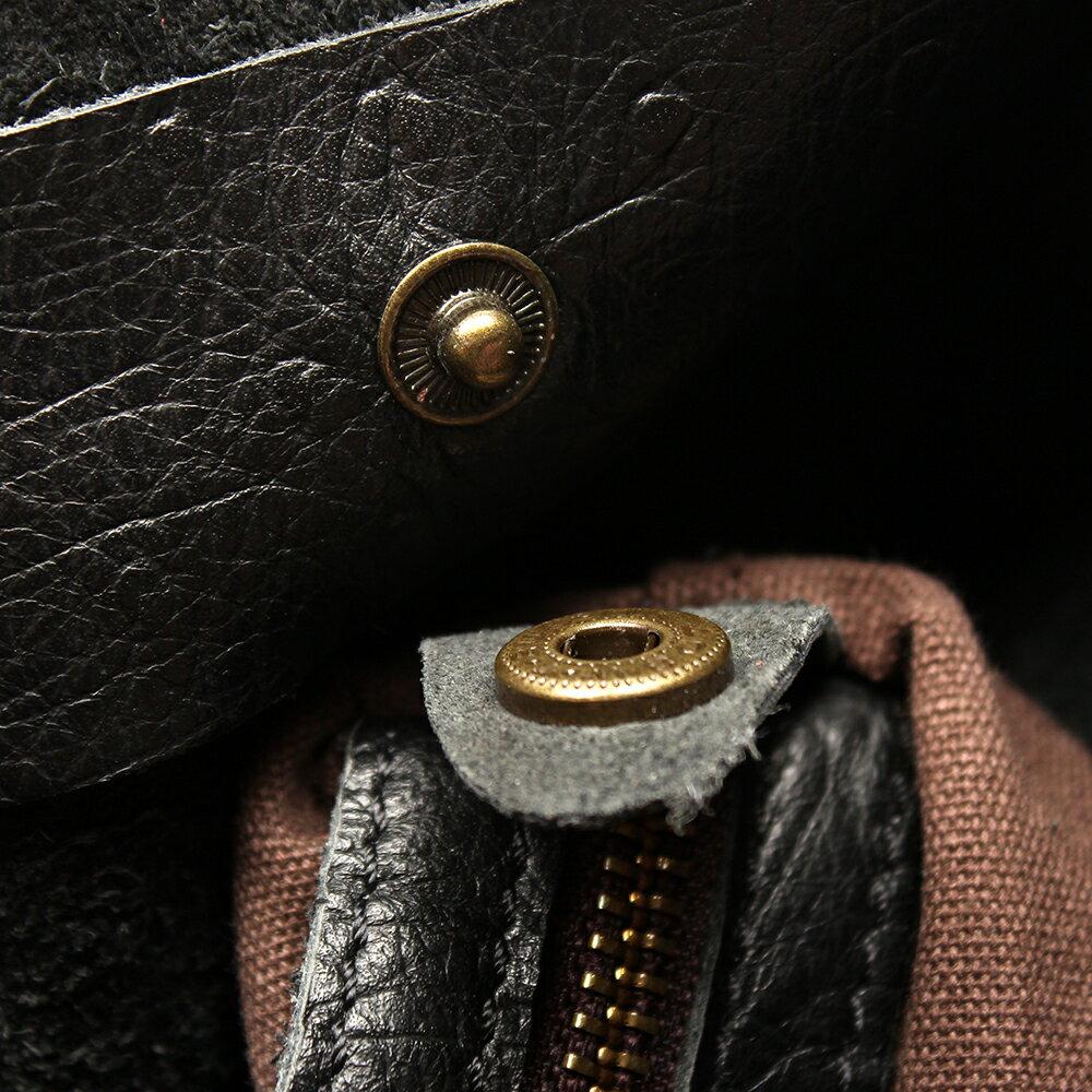 【BEIBAOBAO】氣質名媛牛皮壓紋肩背包(共兩色:  氣質黑) 6