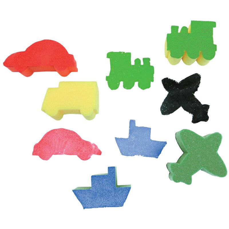 【華森葳兒童教玩具】美育教具系列-海綿印章-交通工具 L1-AP/012/SPT