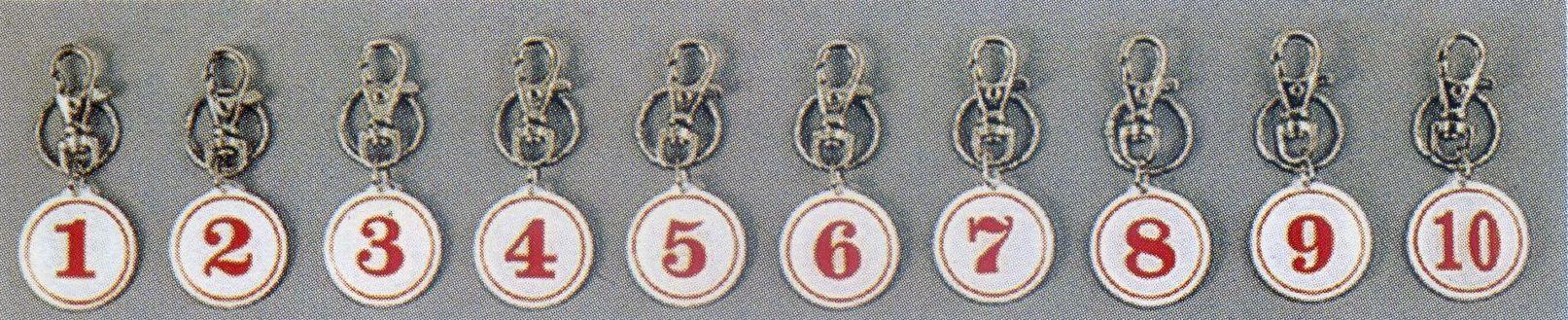 【文具通】A4 號碼 扣環 鑰鎖圈 錀匙圈 白底紅字 雙面 直徑約3cm 1號~100號 訂購您需求總數量,並來電告知號碼與數量 AA010999