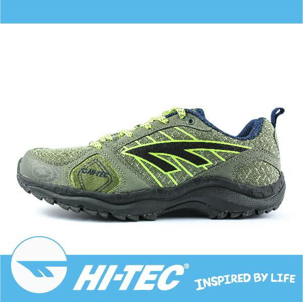 【新春價1390元】HI-TEC 哈樂卡 S HARAKA TRAIL S A005460062 男超輕野跑鞋 支撐性佳 緩衝性佳 透氣舒適 灰/螢綠色 萬特戶外運動