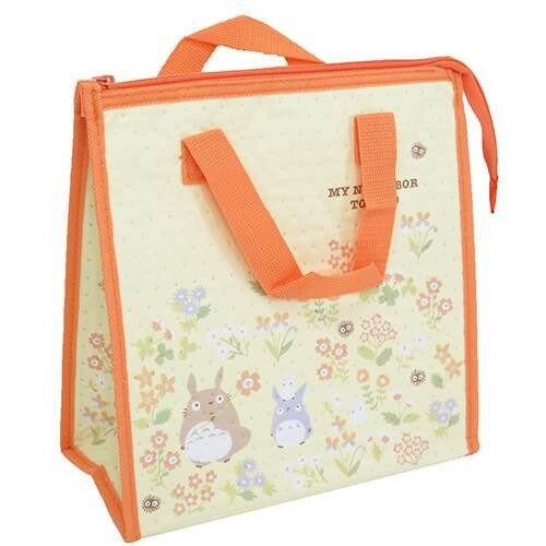 【真愛日本】16090100006不織布保冷袋-龍貓花卉  龍貓 TOTORO 豆豆龍 保冷袋 收納袋