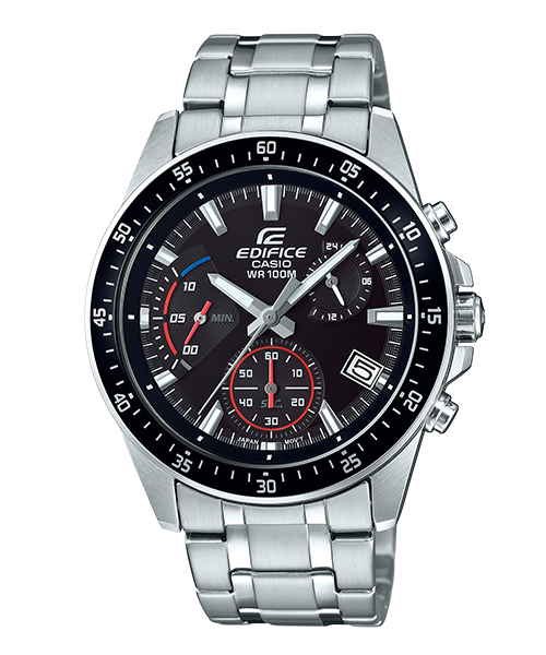 【CASIO 卡西歐】EDIFICE 送禮首選 男錶 三眼計時 逆行計時碼錶(EFV-540D-1A)
