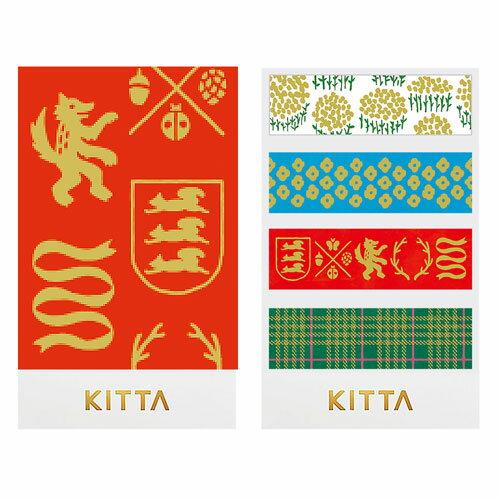 【日本KITTA】隨身攜帶和紙膠帶KITH002押金箔-英倫風情本