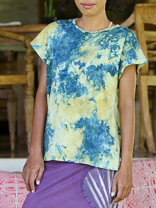 【Bali】100%有機棉自然紮染T恤 4