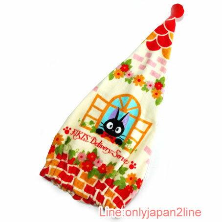 【真愛日本】17030300053純綿吸水帽巾-jiji窗口花朵 魔女宅急便 黑貓 奇奇貓 衛浴 浴裙 居家用品
