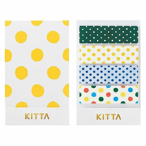 【日本KITTA】隨身攜帶和紙膠帶KIT003圓點點1本