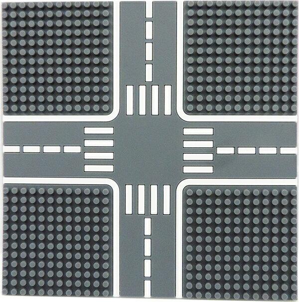 【Tico微型積木】城市道路底板-柏油灰 T-9907-A
