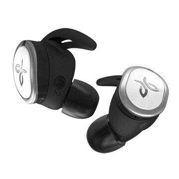 台灣公司貨『 Jaybird RUN 銀白色 』真無線 藍牙運動耳機/藍牙4.0/防汗/防潑水/12小時便攜電力/另售jabra elite 65t