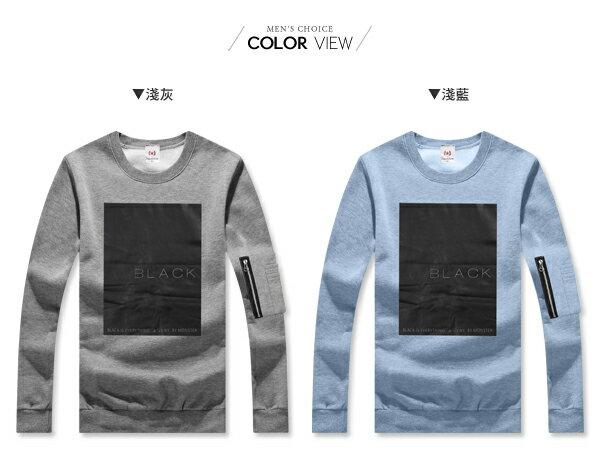 ☆BOY-2☆ 【JN7477】美式BLACK男裝長袖T恤 1