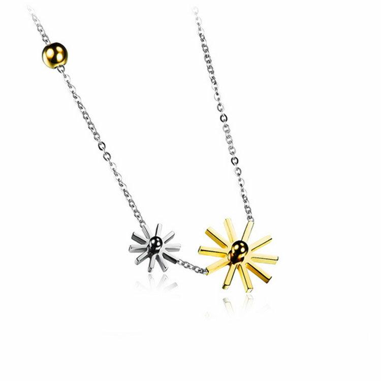 【5折超值價】 情人節禮物最新款時尚精美雪花造型女款鈦鋼項鍊