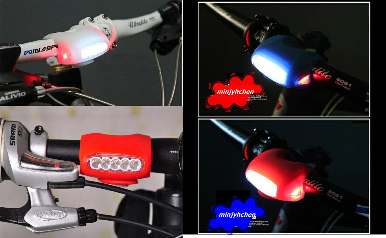 【珍愛頌】B037 三段式 矽膠大眼蛙燈 內附三顆電池 最新第七代青蛙燈 超大 自行車前燈 7LED 牛蛙燈 警示燈
