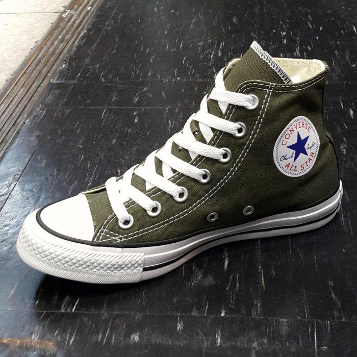 Converse Chuck Taylor All Star 基本款 帆布 高筒 墨綠色 軍綠色 綠色 151175C