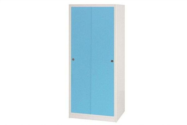 【石川家居】832-05(藍白色)拉門衣櫥(CT-114)#訂製預購款式#環保塑鋼P無毒防霉易清潔