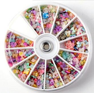 50%OFF【L08565NA】1200顆 手機美容日系美甲diy飾品 指甲貼片 珍珠軟陶