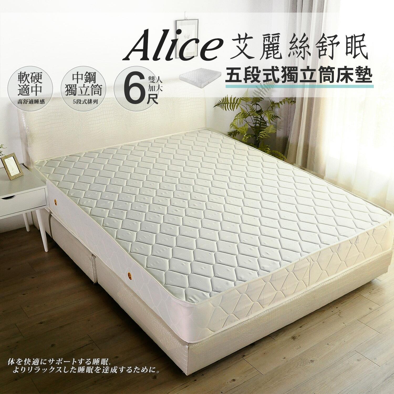Alice艾麗絲舒眠五段式獨立筒床墊 / 6尺雙人加大(軟硬適中) / H&D東稻家居 / 好窩生活節 0
