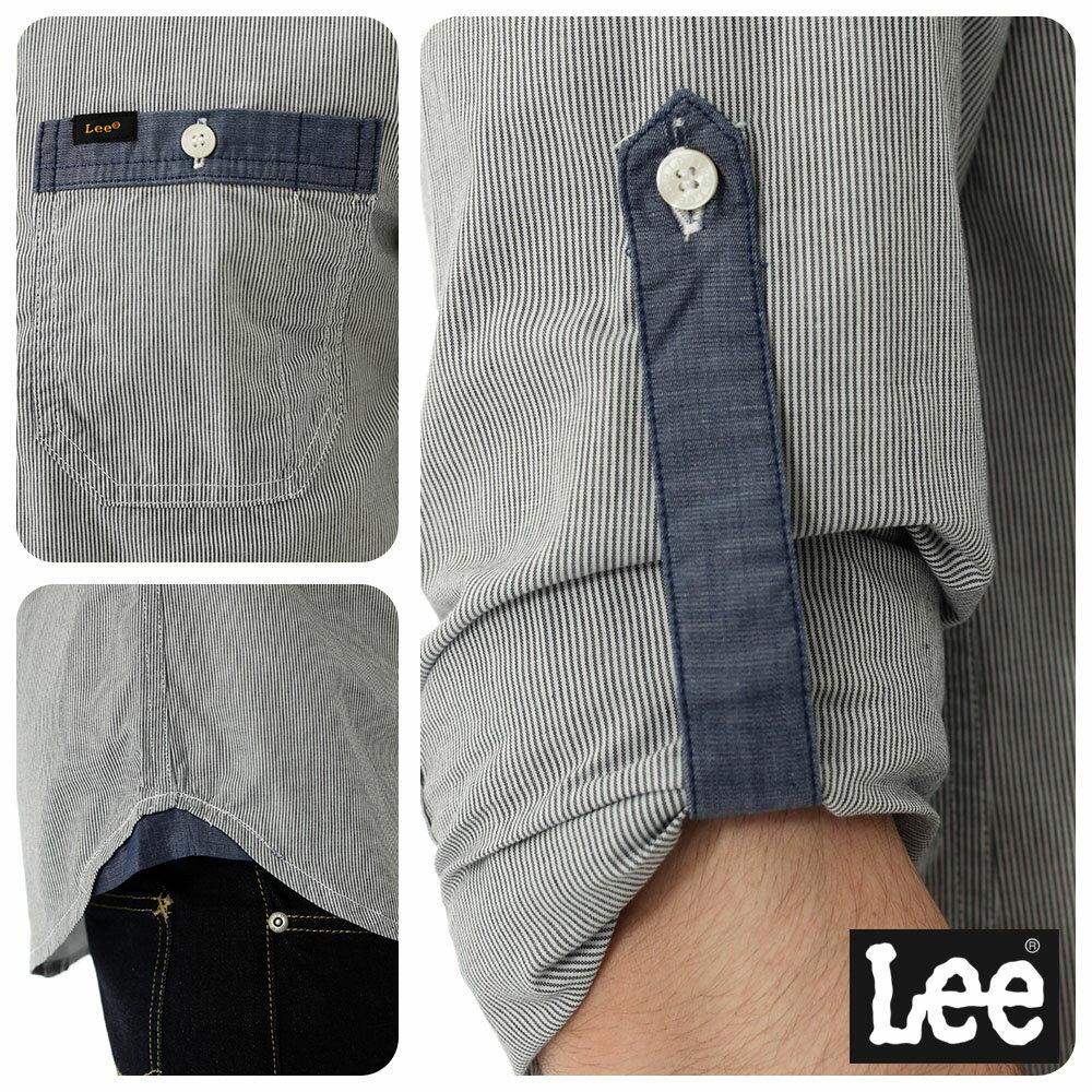 Lee 條紋長袖襯衫 2
