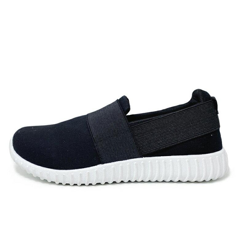 【滿額領券↘折$120】女款套入式運動鞋 懶人鞋 [P96] 黑 MIT台灣製造【巷子屋】