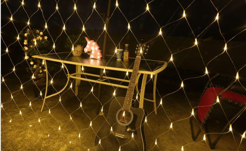 《沛大建材》$389 LED裝飾網燈 LED網燈 漁網燈 漁網格子燈 彩燈 滿天星 戶外 佈置 漁網格 防水 【S61】 0