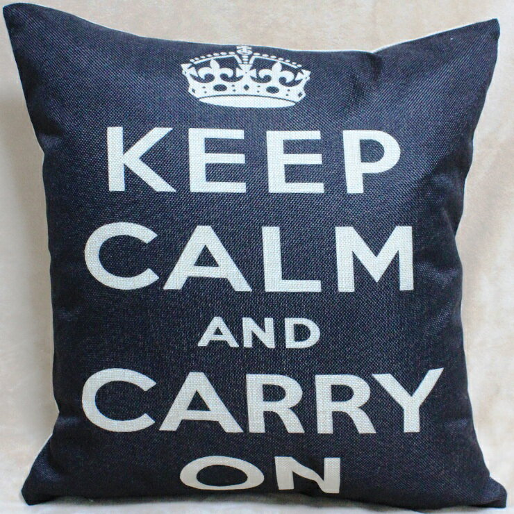 KEEP CALM AND CARRY ON 45x45cm 抱枕 靠枕