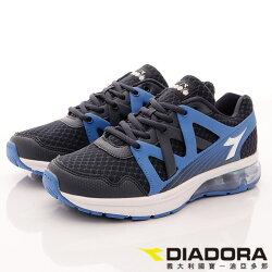 【DIADORA】潮流氣墊透氣運動款(藍)男款-8AMR5766