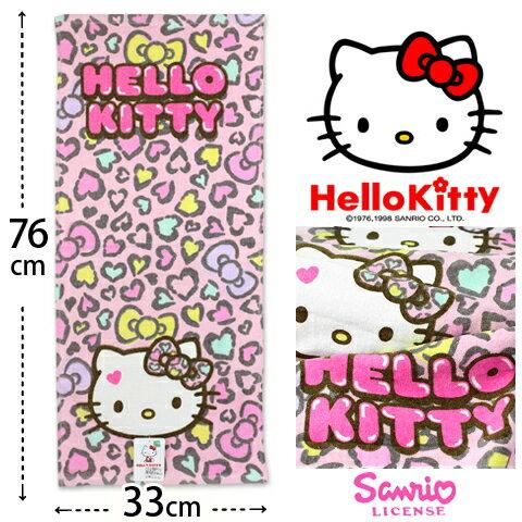【esoxshop】Kitty 純棉毛巾 凱蒂貓豹紋款 三麗鷗 Sanrio