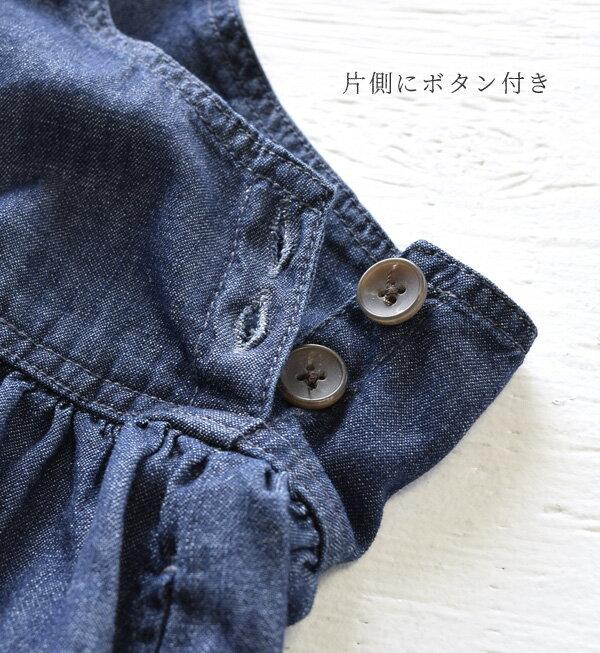 日本e-zakka / 長版無袖牛仔連衣裙 / 32593-1801251 / 日本必買 代購 / 日本樂天直送(5900) 9