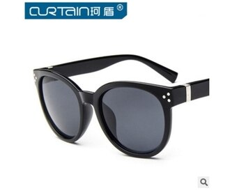 50%OFF【J011474Gls】新款米釘復古太陽鏡5071潮 超大方框個性墨鏡男女款太陽眼鏡附眼鏡盒