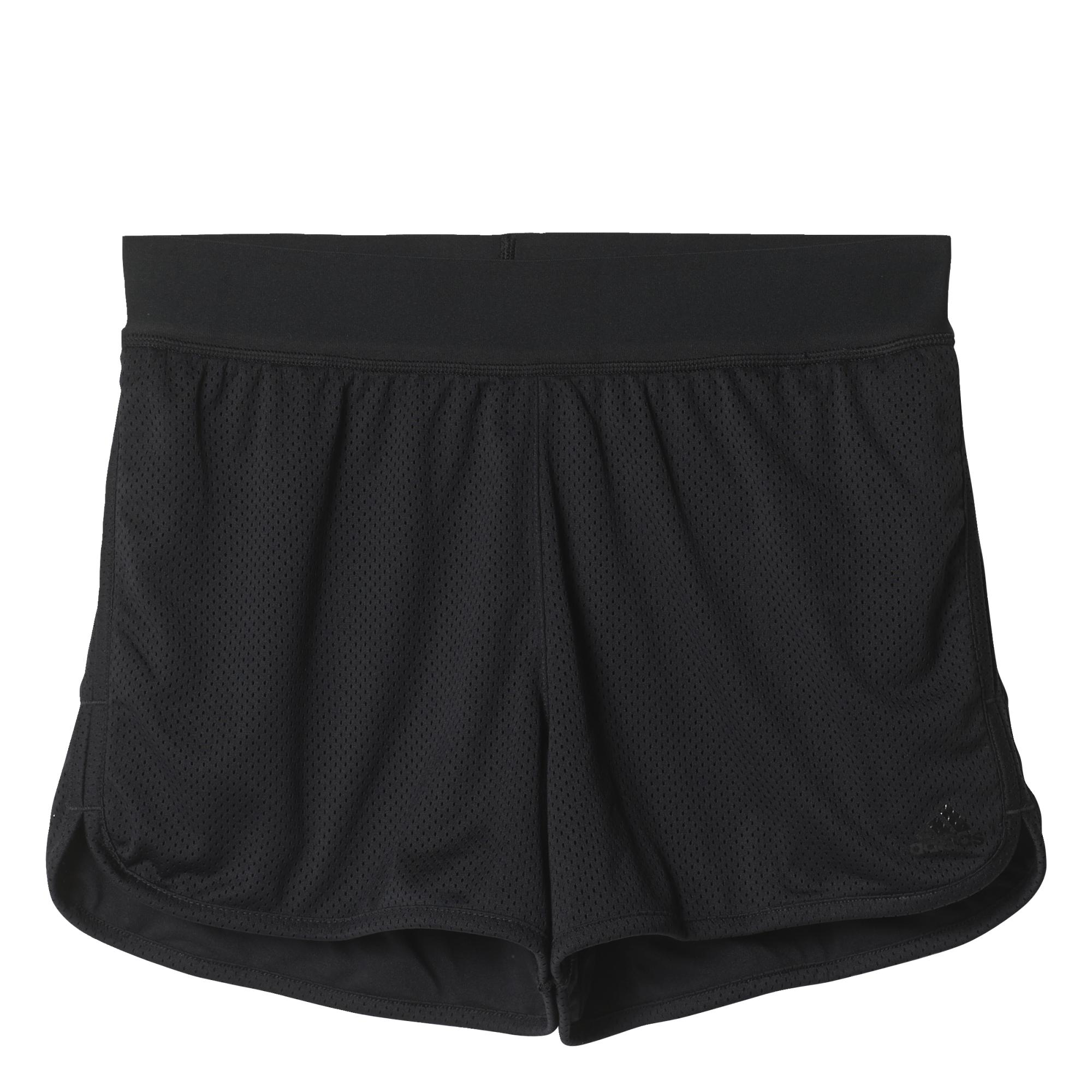 《精選服飾↘市價65折》Adidas Mesh Shorts 女裝 短褲 慢跑 排汗 透氣 內裡 黑 【運動世界】 AJ6362