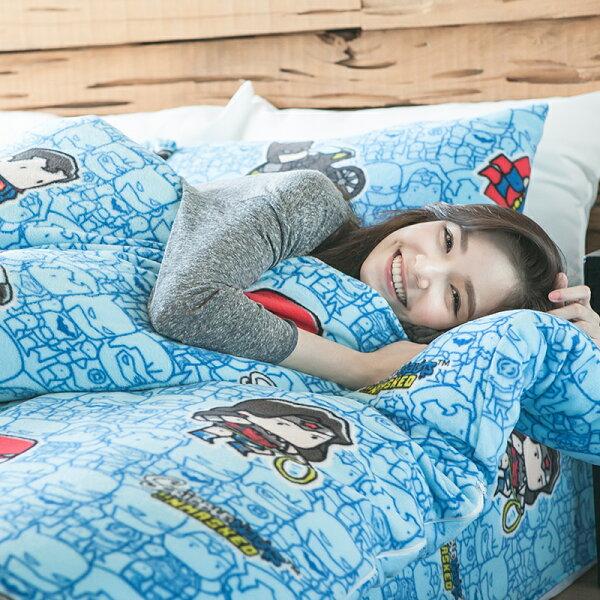 戀家小舖:床包兩用毯組單人-暖呼呼搖粒絨【正義曙光】含一件枕套,發熱保暖,戀家小舖,台灣製