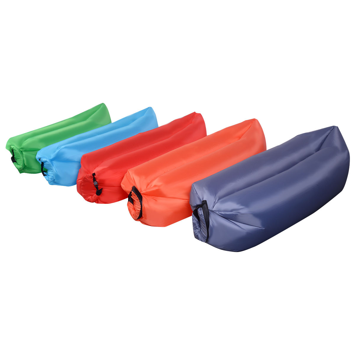 Costway Outdoor Lazy Inflatable Couch Air Sleeping Sofa Lounger Bag Camping Bed Portable 5
