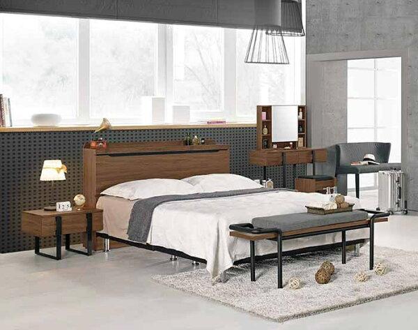 尚品傢俱:【尚品傢俱】CM-029-2伯恩斯5尺被櫥式雙人床(不含床墊.另有6尺)