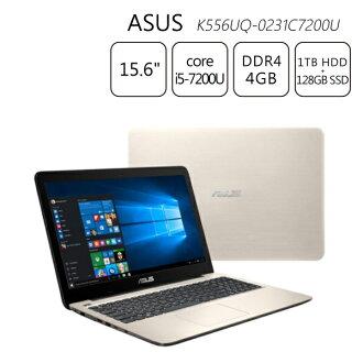 【送筆電包+滑鼠】霧面金~ASUS K556UQ-0231C7200U 4G 128G+1T 15.6吋筆電
