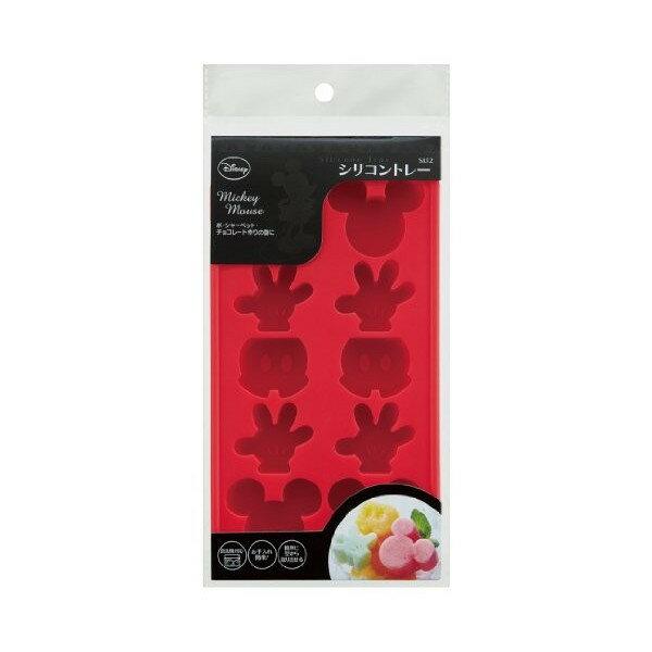 【真愛日本】17072800013 矽膠造型模具-米奇紅 迪士尼 米老鼠米奇 米妮 矽膠製冰盒 模型 模組