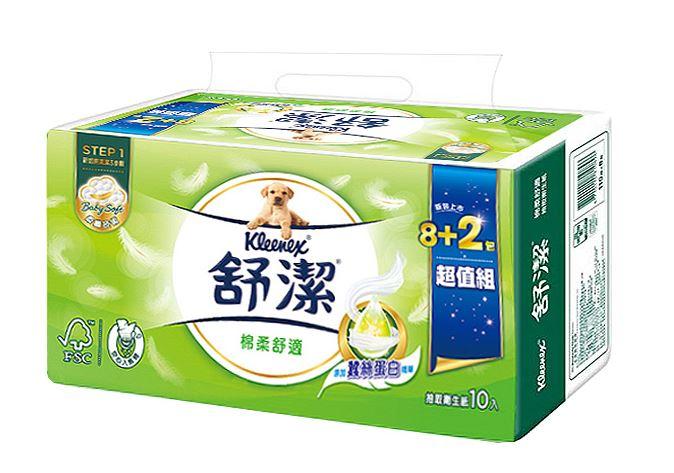 【雙十特賣】舒潔棉柔舒適抽取式衛生紙100抽X10包X6串/箱