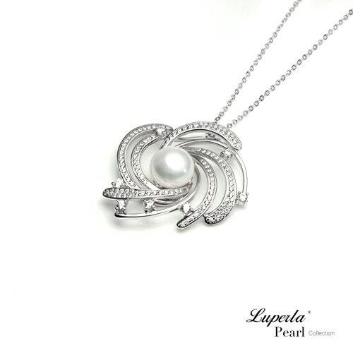 大東山珠寶 燦若繁星 純銀晶鑽珍珠項鍊 3