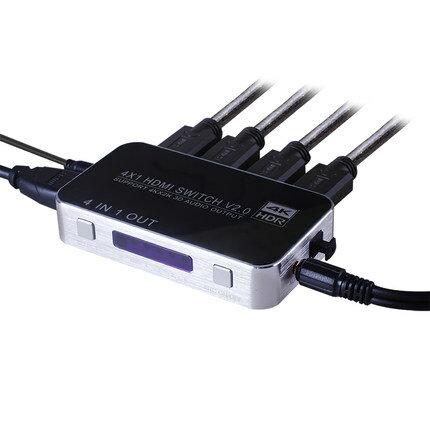 美琪高清光纖HDMI切換器帶音頻分離4K分配器4進1出5.1聲道3D分