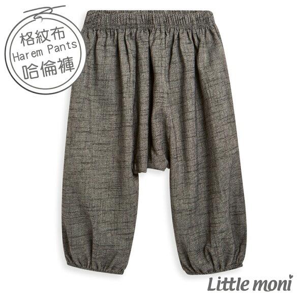 Littlemoni平織哈倫褲-黑色