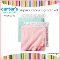 彌月禮盒推薦Enen Shop @Carter's 粉色系花朵款四件組薄被/包巾/浴巾 #D06G001 新生兒/彌月禮