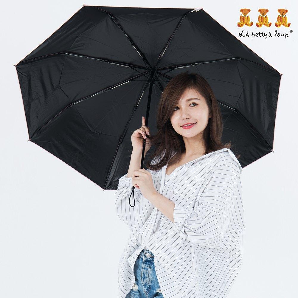 三隻小熊 黑膠鑽石秒收傘 晴雨傘 防風 抗UV 6