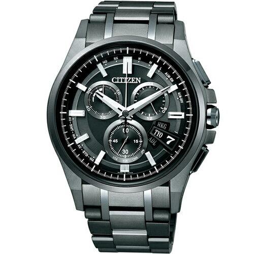 CITIZEN星辰BY0094-87E炫黑無垠電波鈦金屬光動能腕錶/黑面44mm