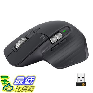 [8美國直購] 無線滑鼠 Logitech MX Master 3 Advanced Wireless Mouse - Graphite