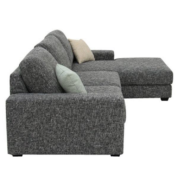 ◎布質左躺椅L型沙發 GRAND DGY  NITORI宜得利家居 2