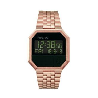 NIXON 追隨潮流方形玫瑰金腕錶/A158-897