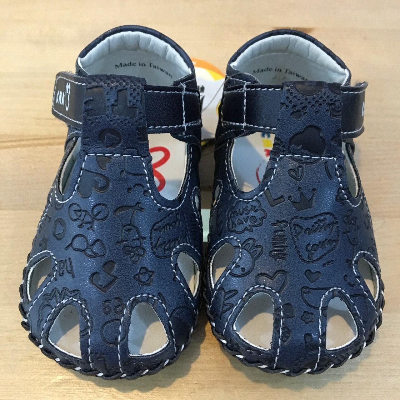 【禾宜精品】五折學步鞋 壓紋 真皮鞋墊 天鵝 CHA CHA TWO 涼鞋 手工鞋 寶寶 台灣製造 童鞋