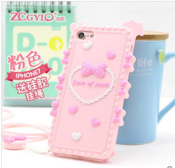 蘋果iPhone66Splus5.5吋奇葩ZCGYLP軟矽膠卡通造型立體手機殼