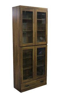 【尚品傢俱】630-11 美蒂集成木3X6書櫃/開門書櫃/書櫥收納櫃/玻璃櫃