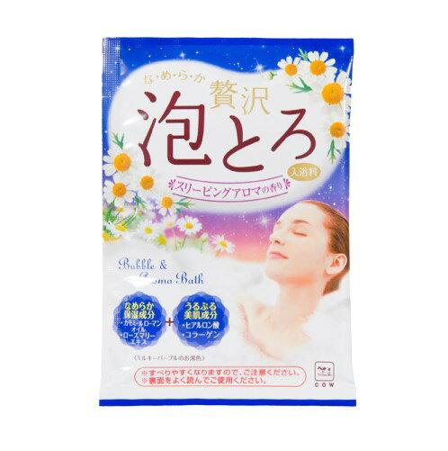 日本製 COW 牛乳石鹼 奢侈泡泡入浴劑(藍-洋甘菊香)30g/包 濃密泡泡*夏日微風*